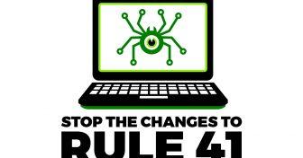 ÄLÄ ANNA YHDYSVALTAIN HALLITUKSEN HAKKEROIDA TIETOKONEITAMME – ESTÄ MUUTOKSET RULE 41:EEN